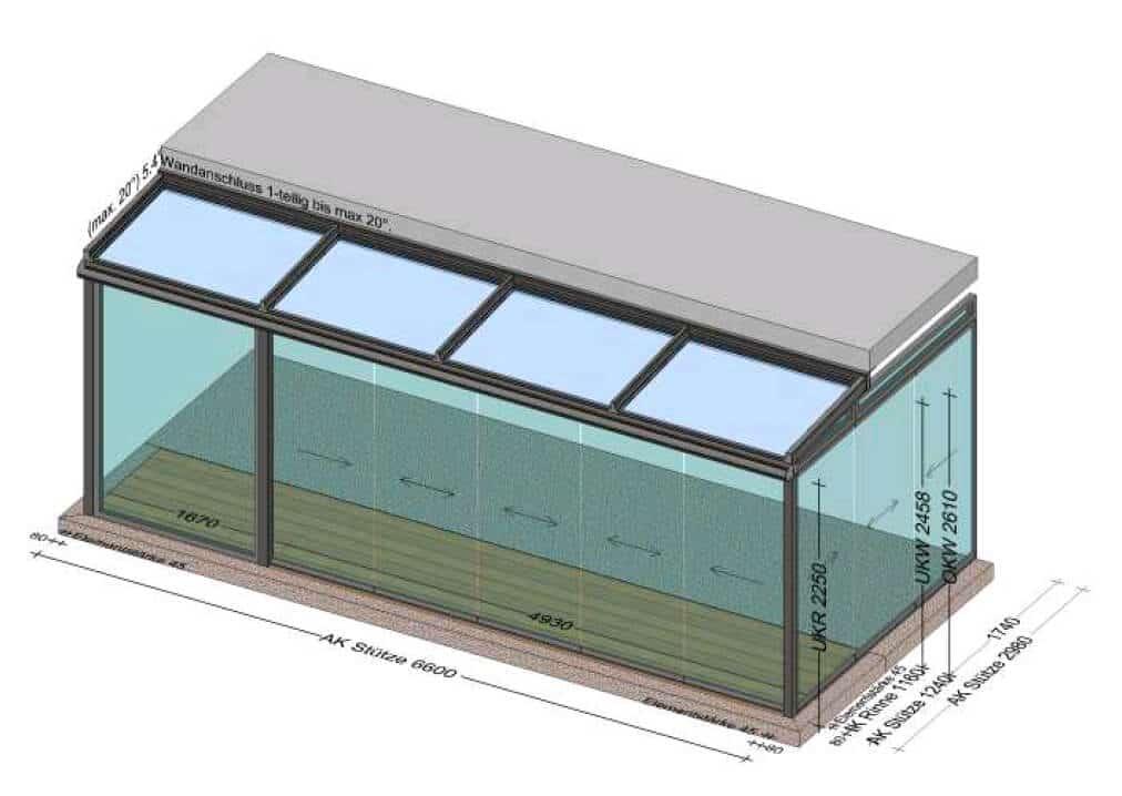 Wintergarten 6 x 3 Meter - Planung