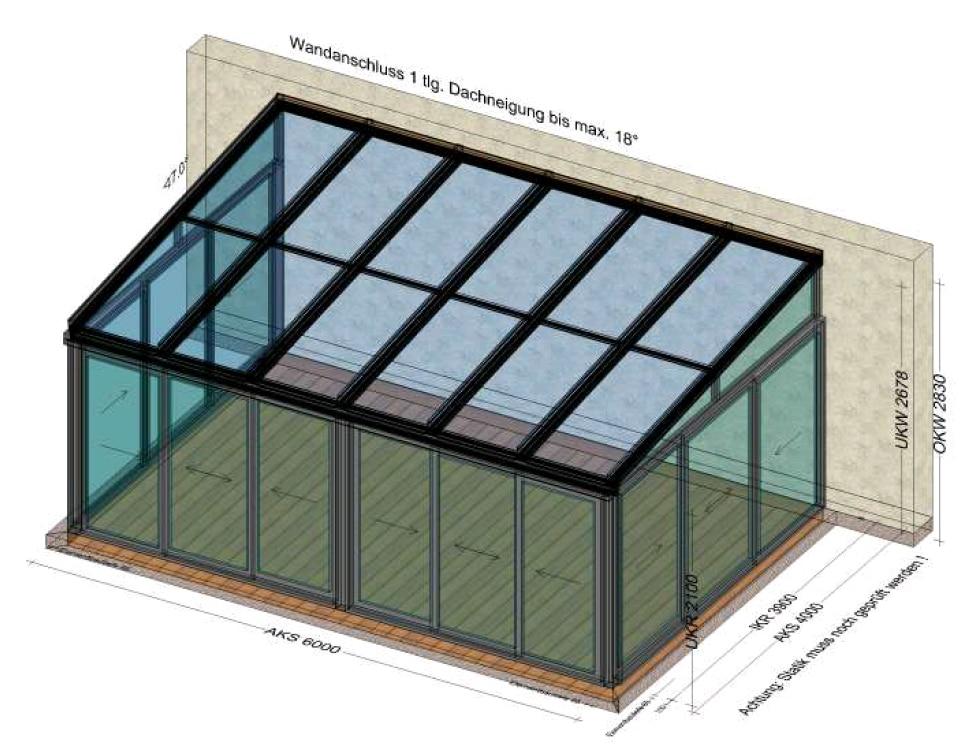 Wintergarten 6x4 - Planung in Aberndorf in der Riedmark