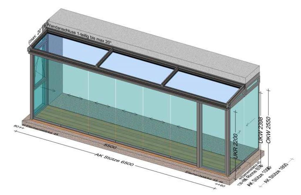Wintergarten 7x2 - Planungsbeispiel