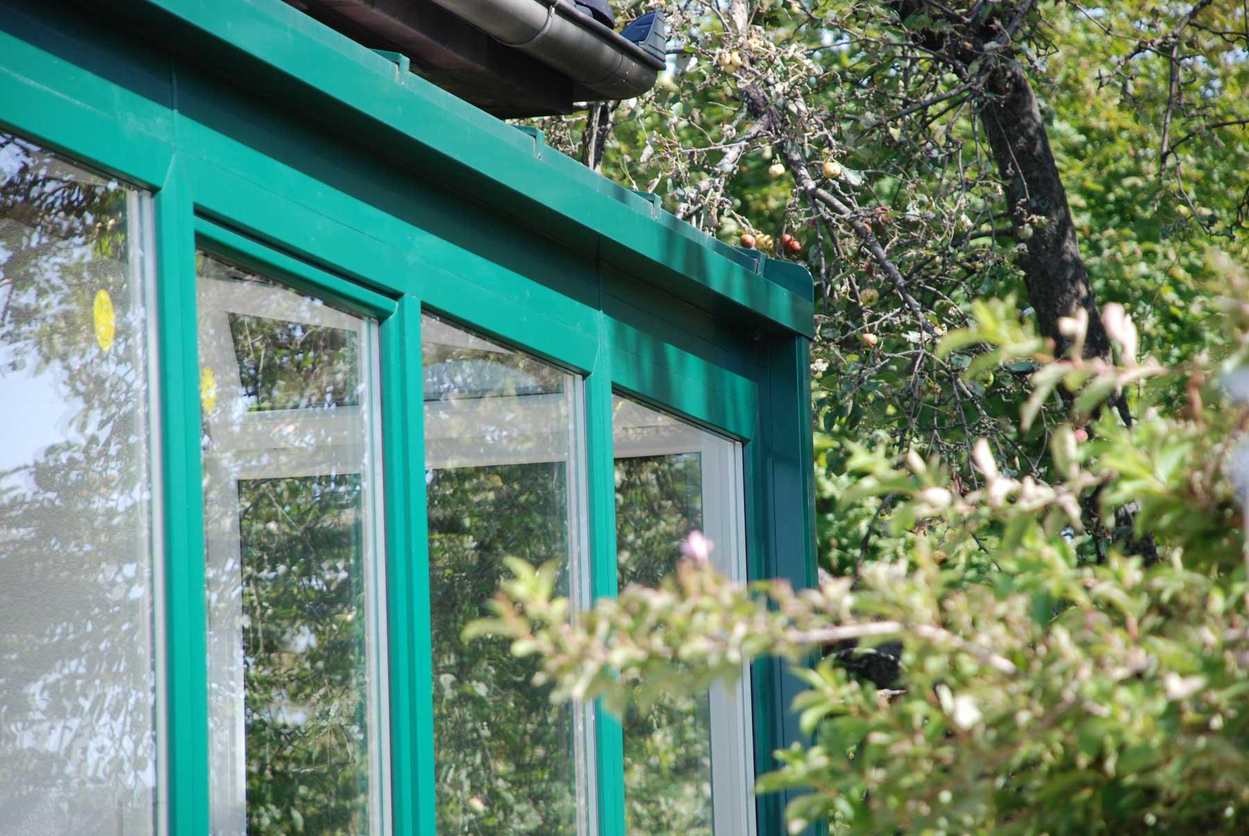 Wintergarten Aluminium Grün