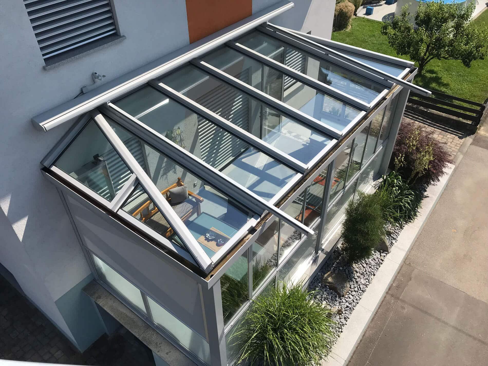 Wintergarten Aluminium mit Sonnenschutz