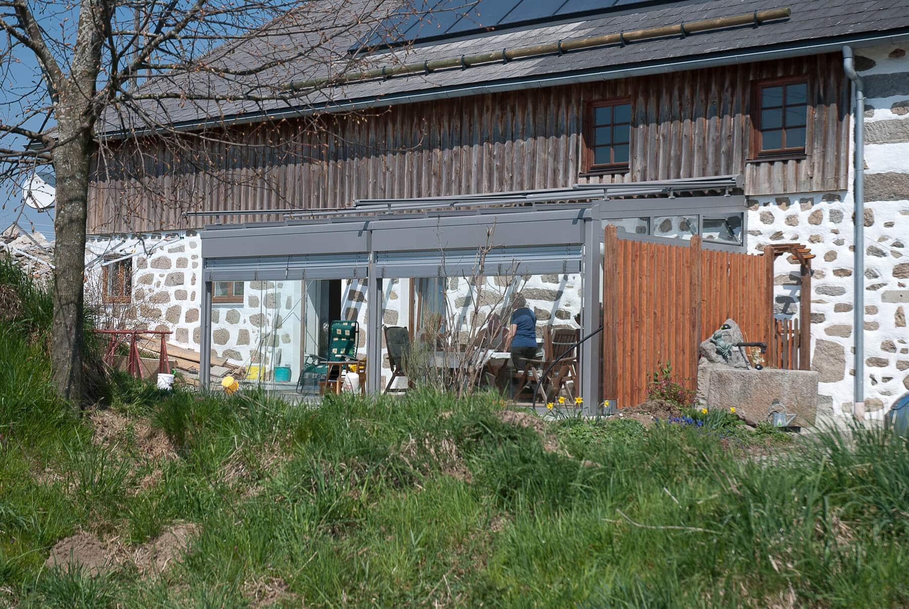 Wintergarten an Bauernhaus anbauen