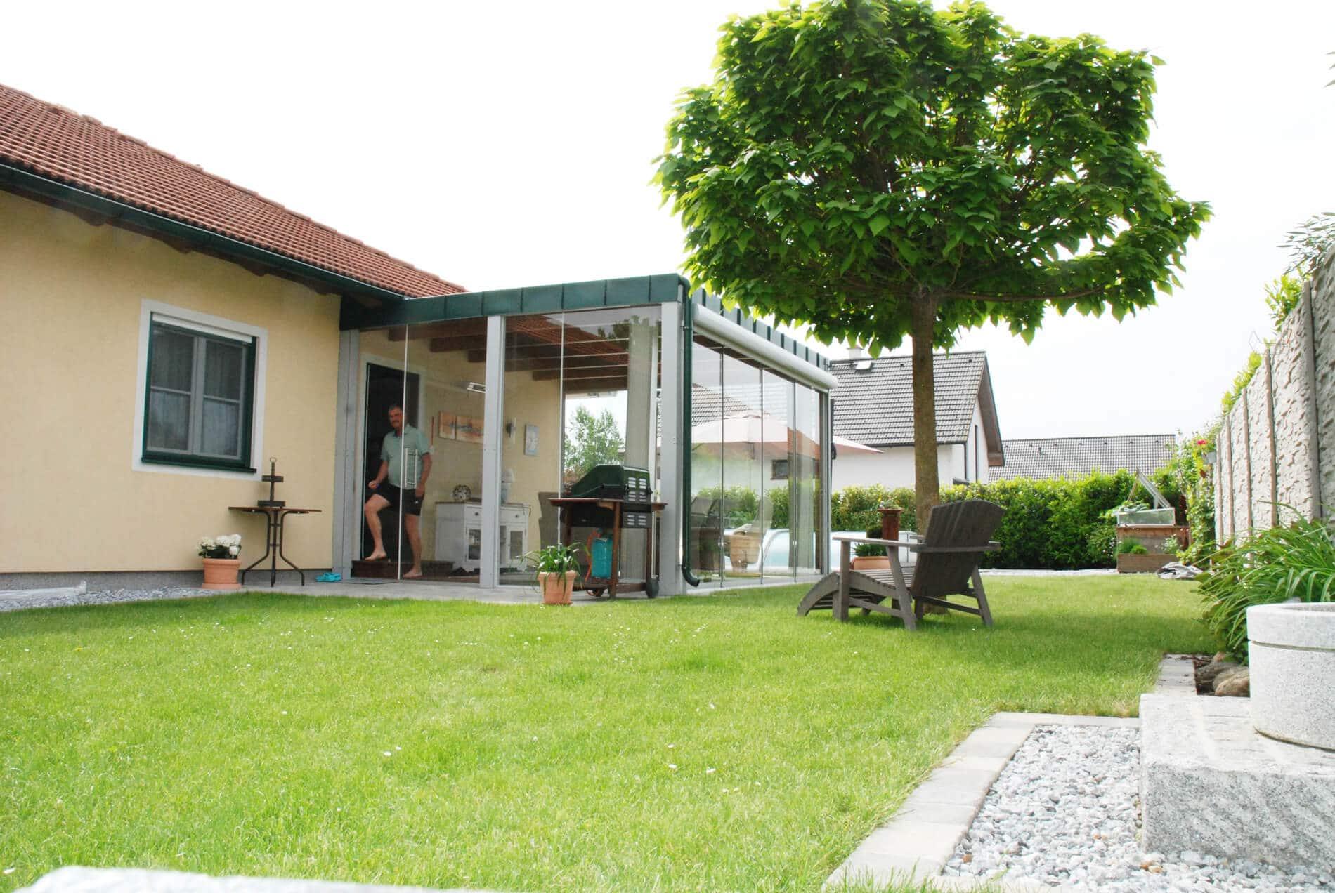 Terrasse schiebeverglasung fenster schmidinger - Wintergarten erfahrungen ...