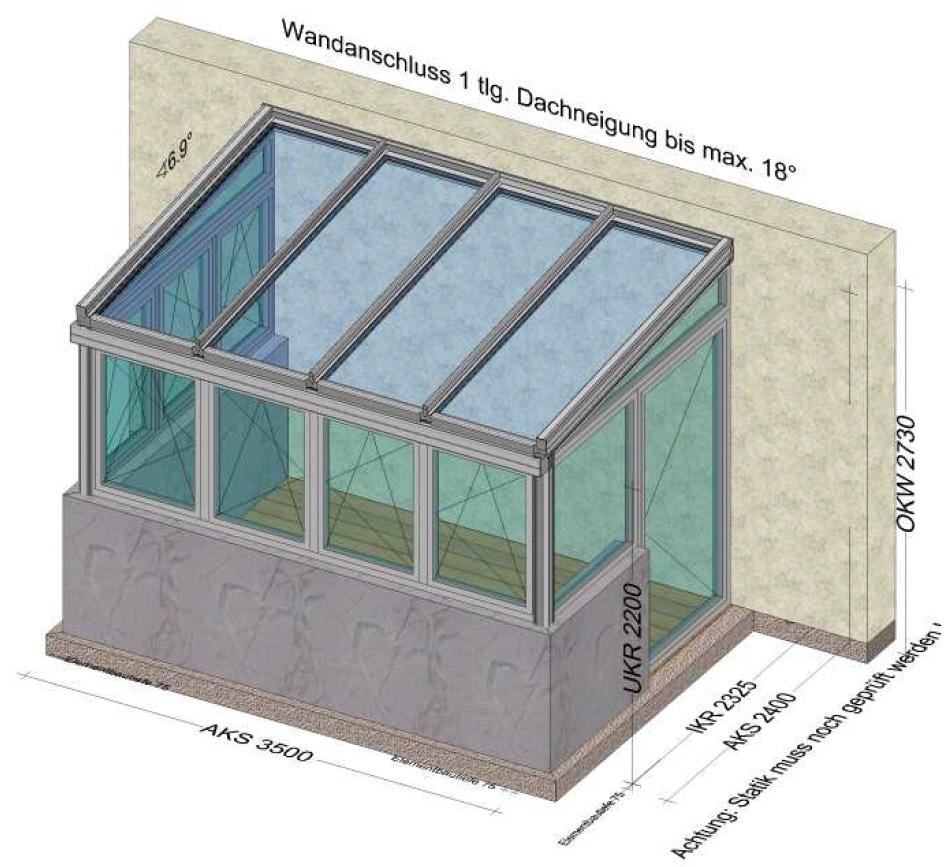 Wintergarten auf Terrasse mit Türe - Planung Sankt Georgen Oberösterreich