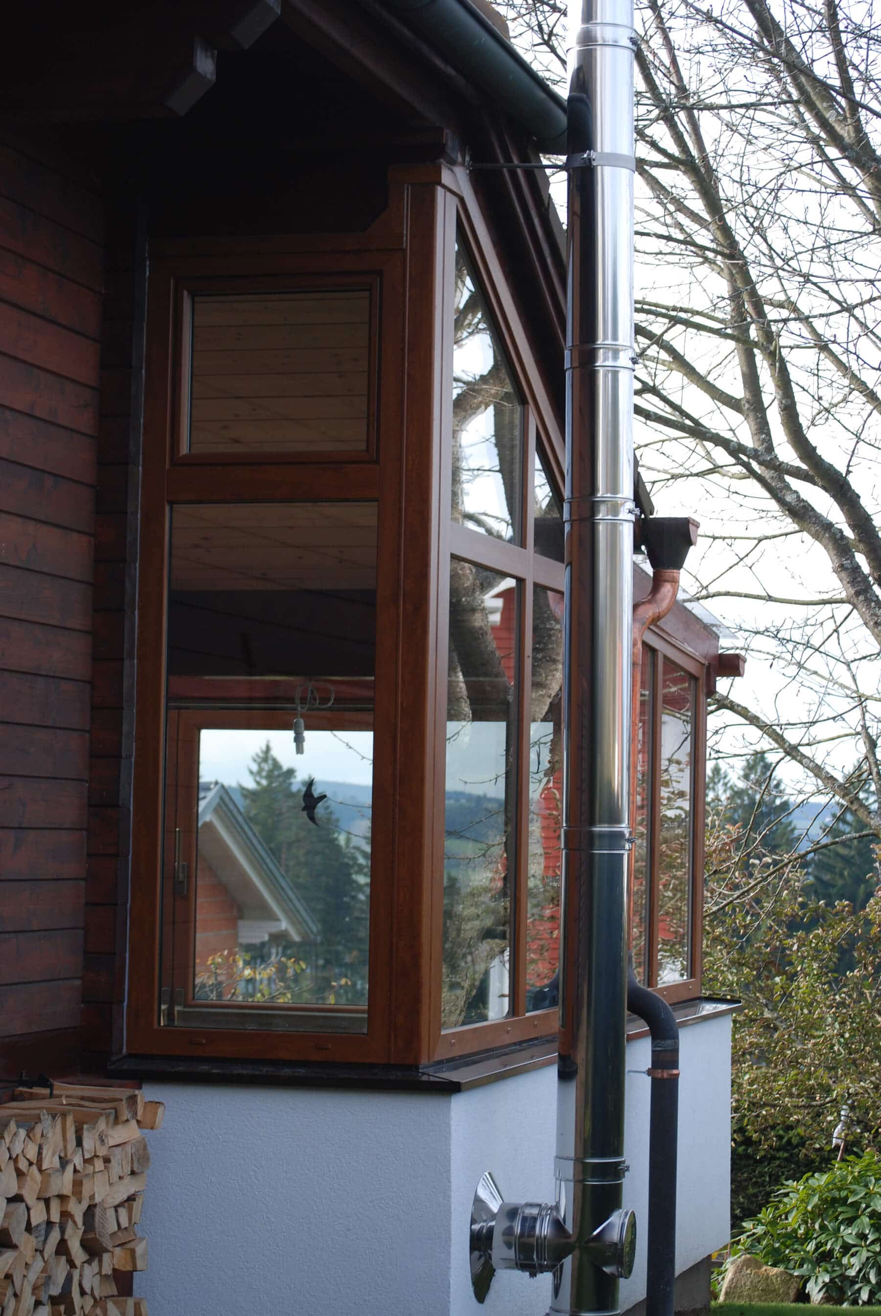Windschutz für Terrasse aus Glas - Fenster-Schmidinger / OÖ