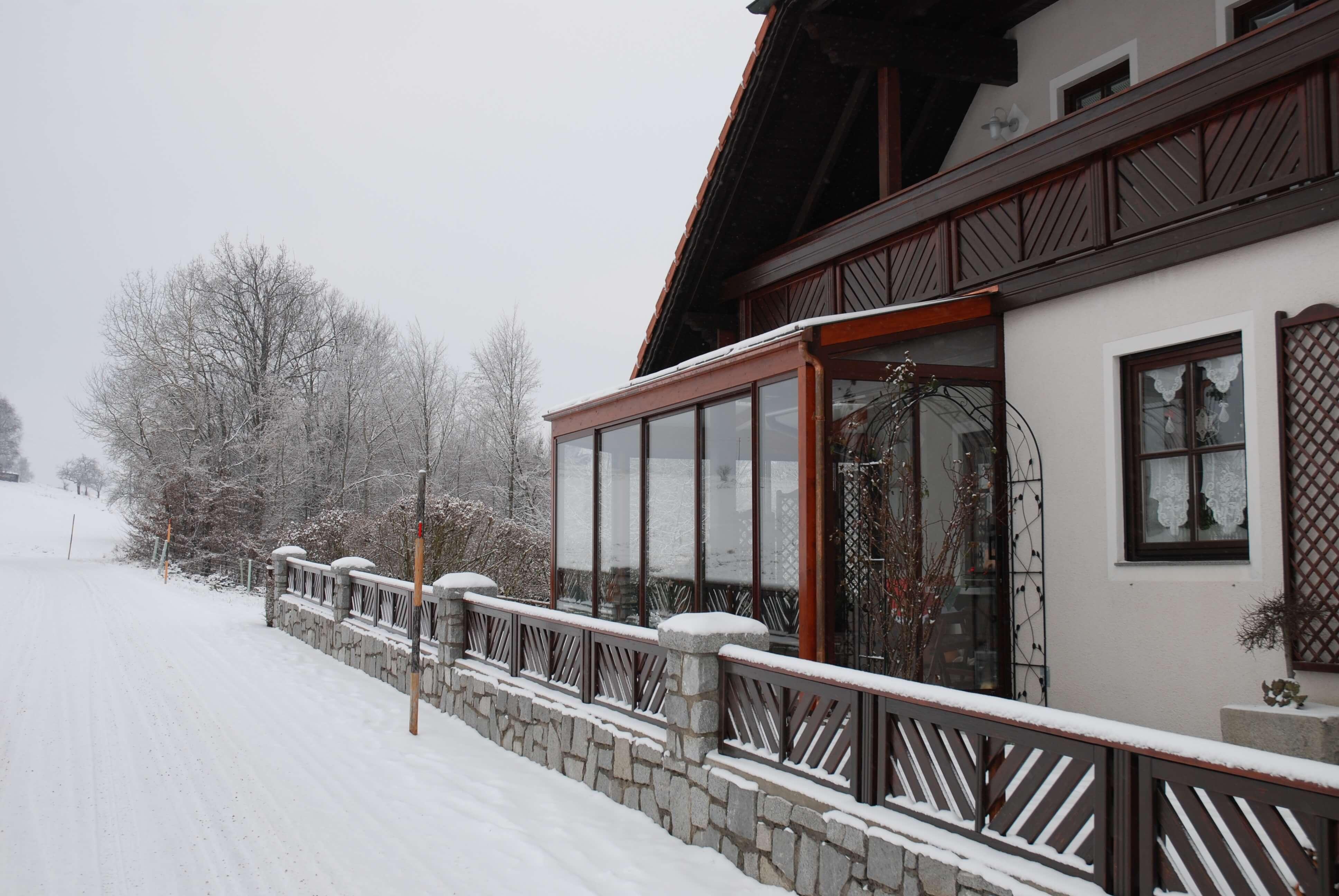 Wintergarten braun