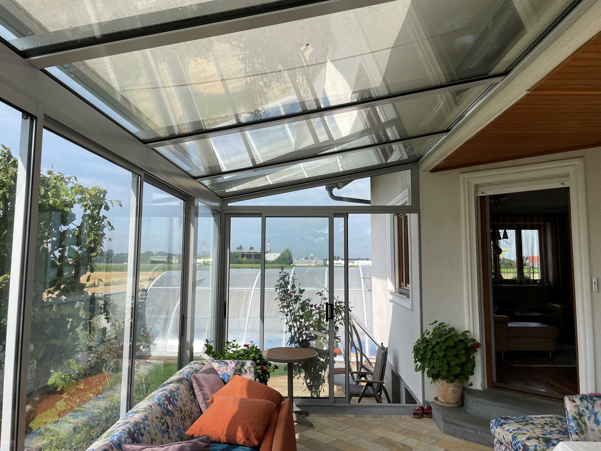 Wintergarten Chill-Lounge in grau in 4320 Perg montiert