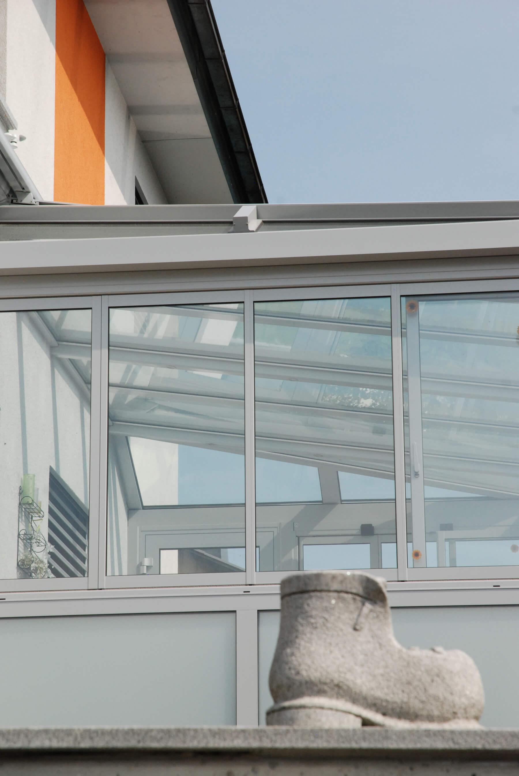 Wintergarten Falt-Dreh-Fenster