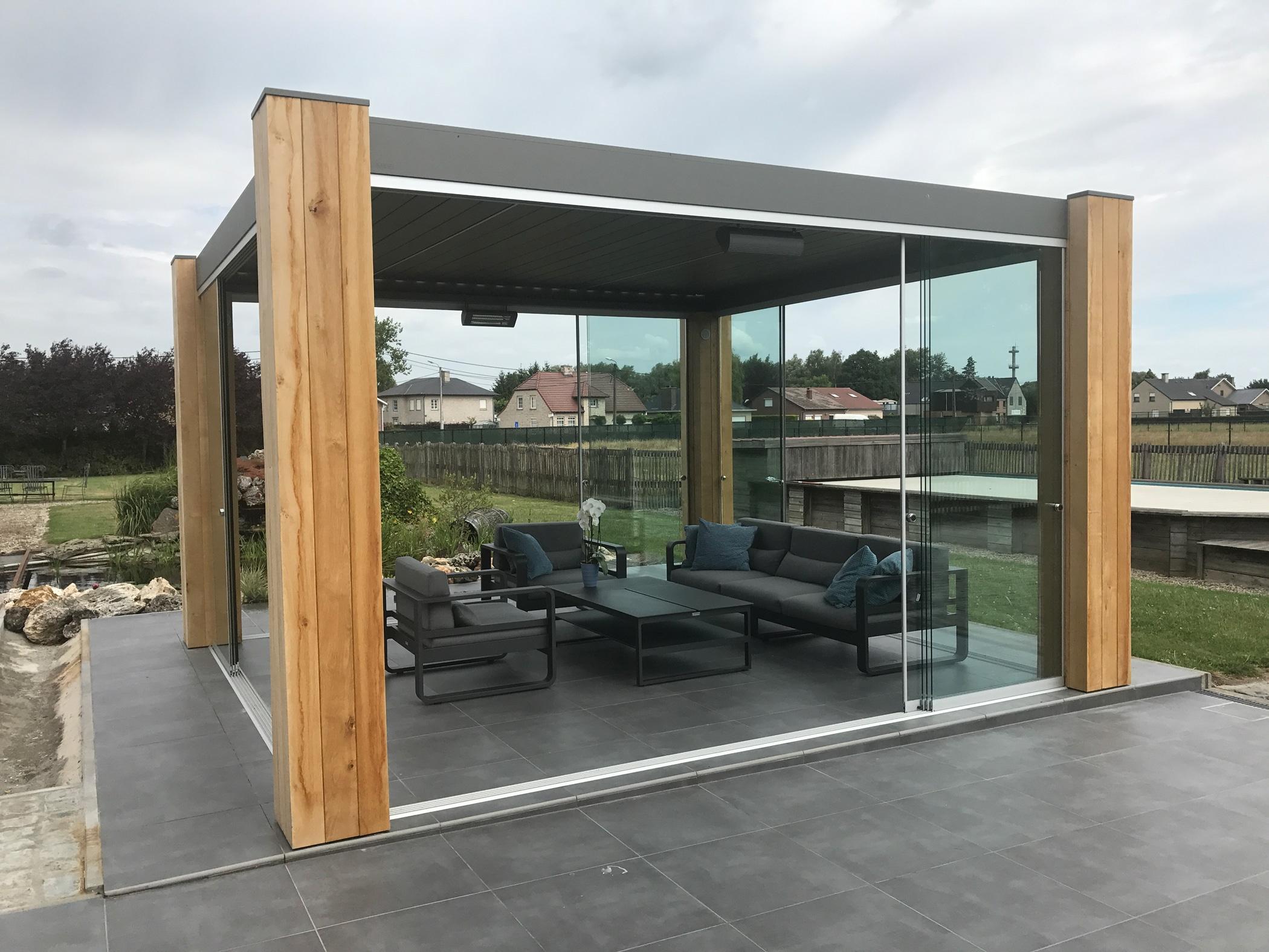 Wintergarten für Terrasse - freistehende Konstruktion