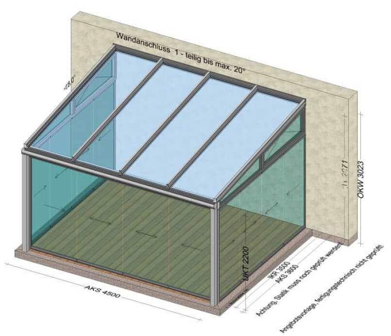 Wintergarten Glasdach Kosten