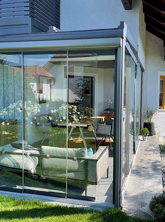 Wintergarten Glasschiebetüren von Sunflex