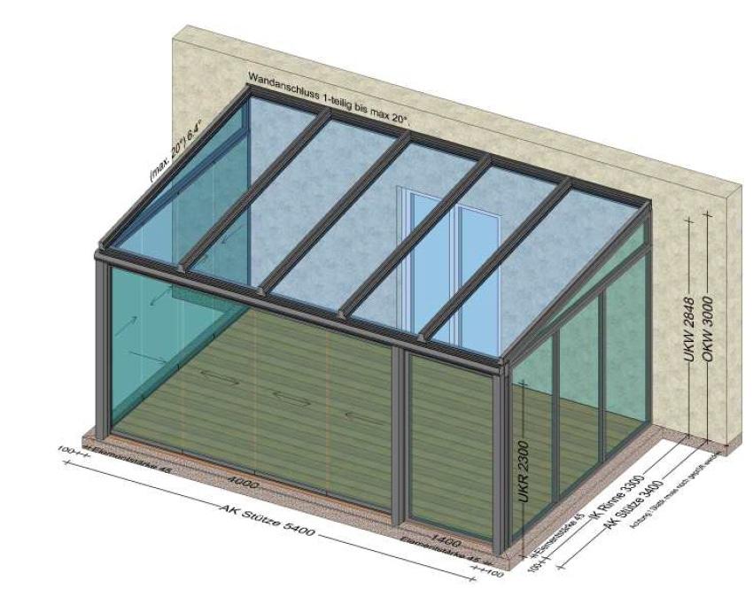 Wintergarten Glasschiebetüren Sunflex