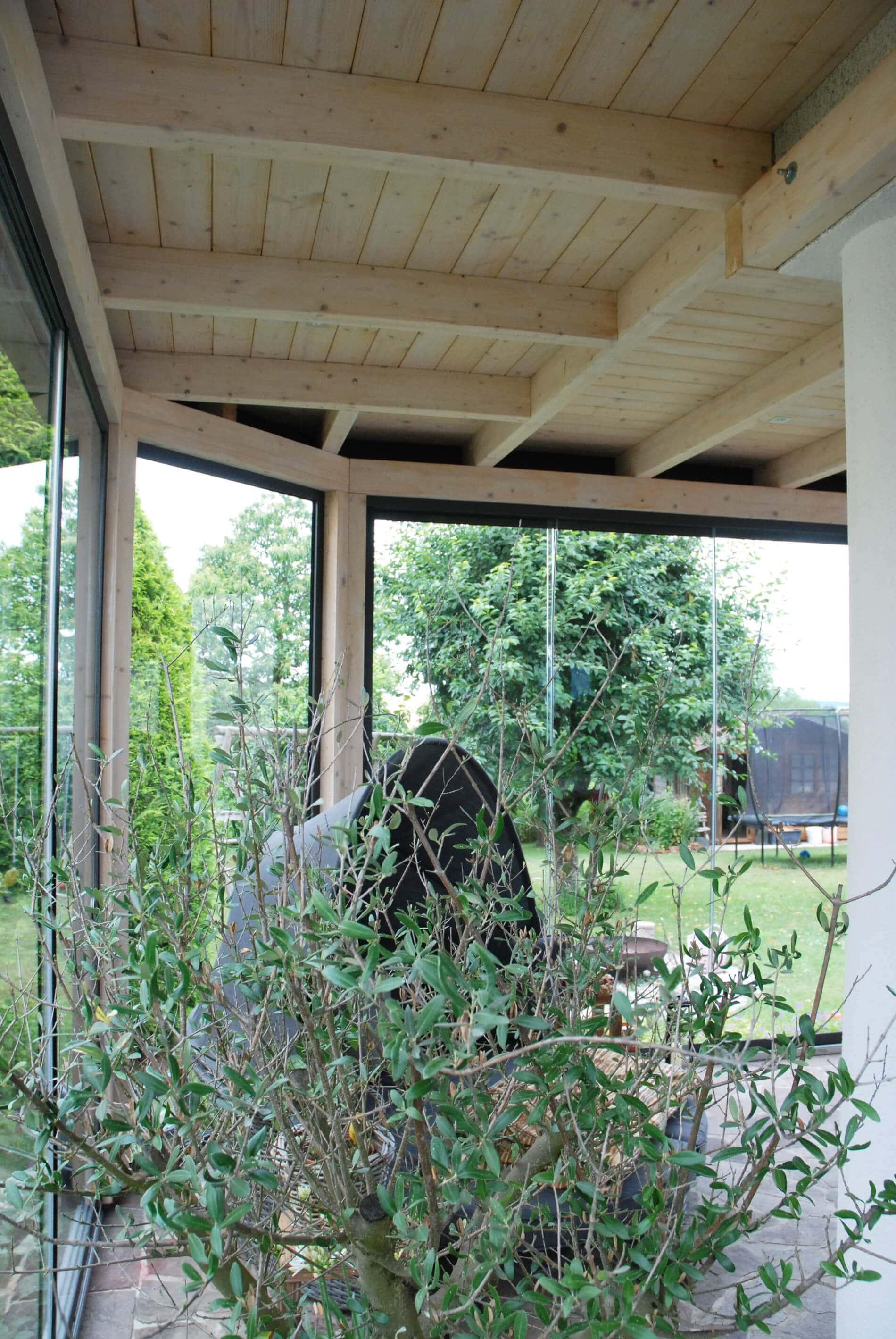 Wintergarten Holz-Alu Glas