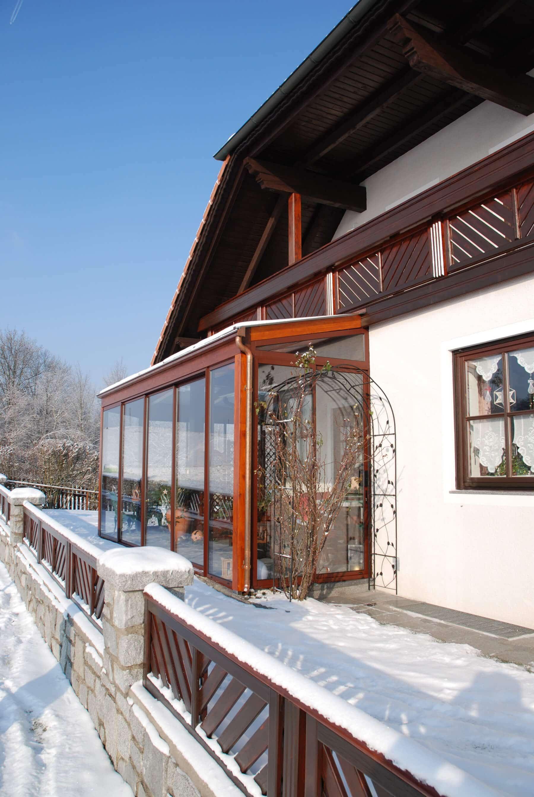 Wintergarten Holz und Glas