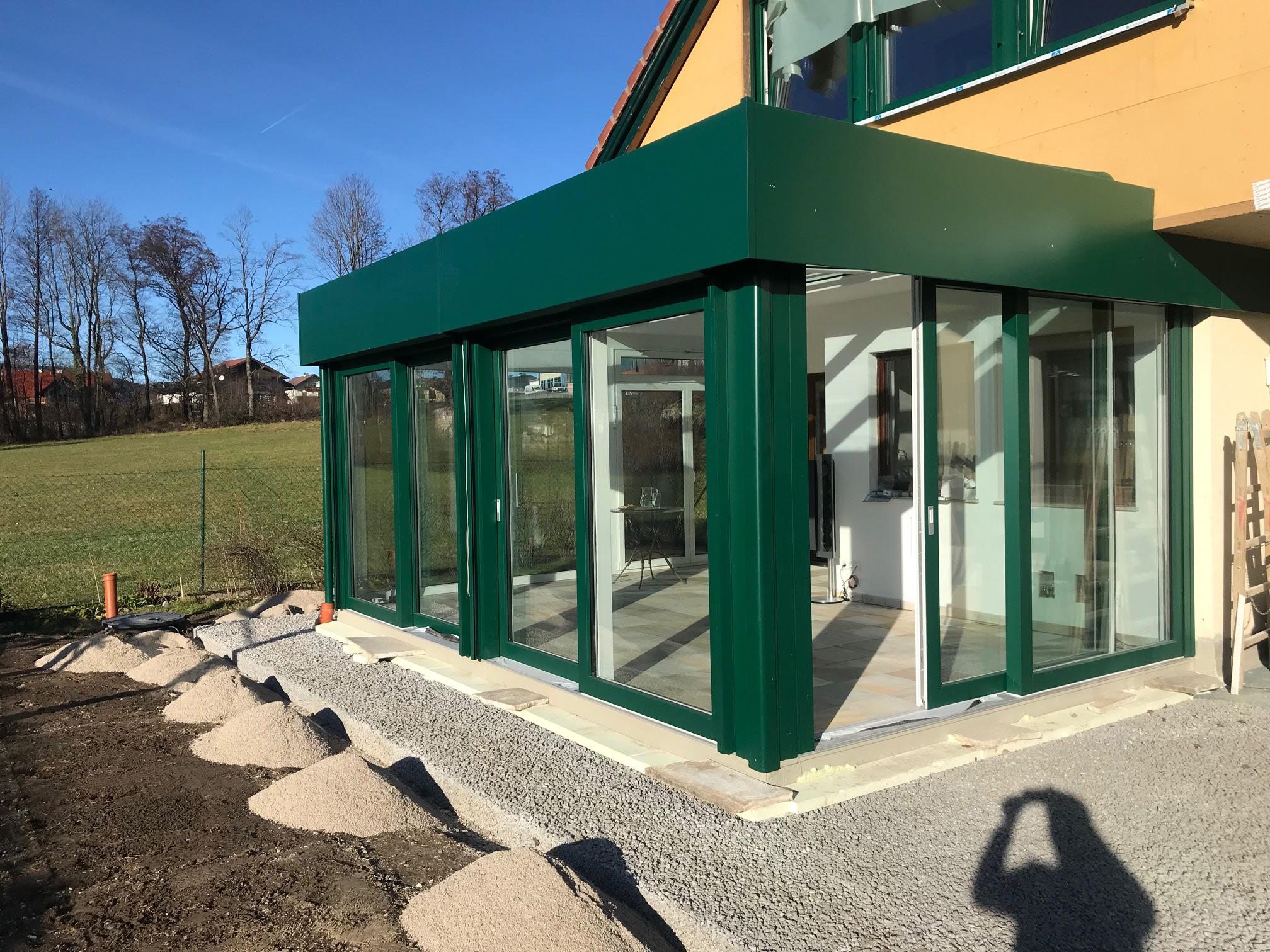 Wintergarten in moosgrün - Montageort Mondsee / OÖ
