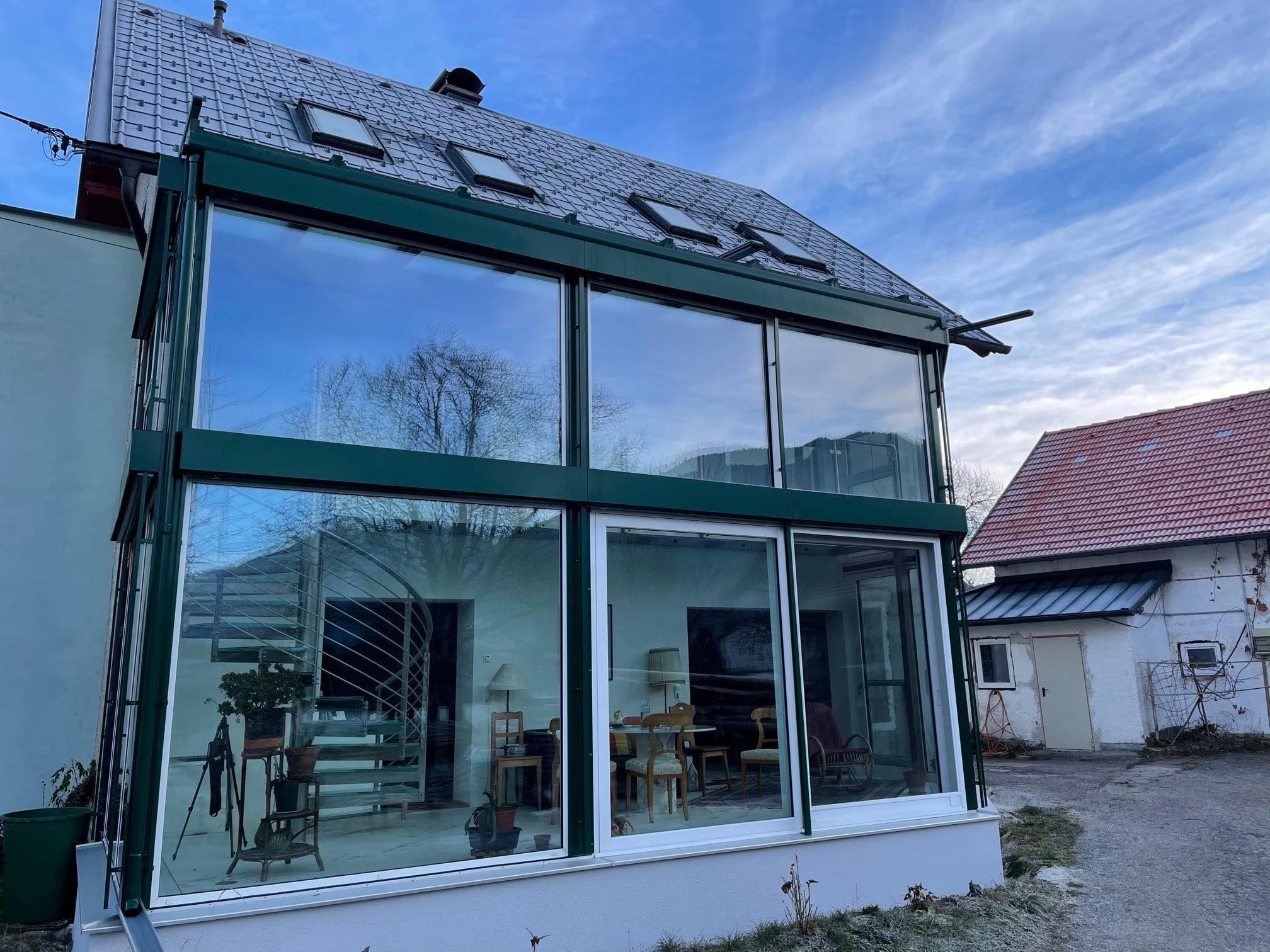 Wintergarten isoliert für 2 Etagen