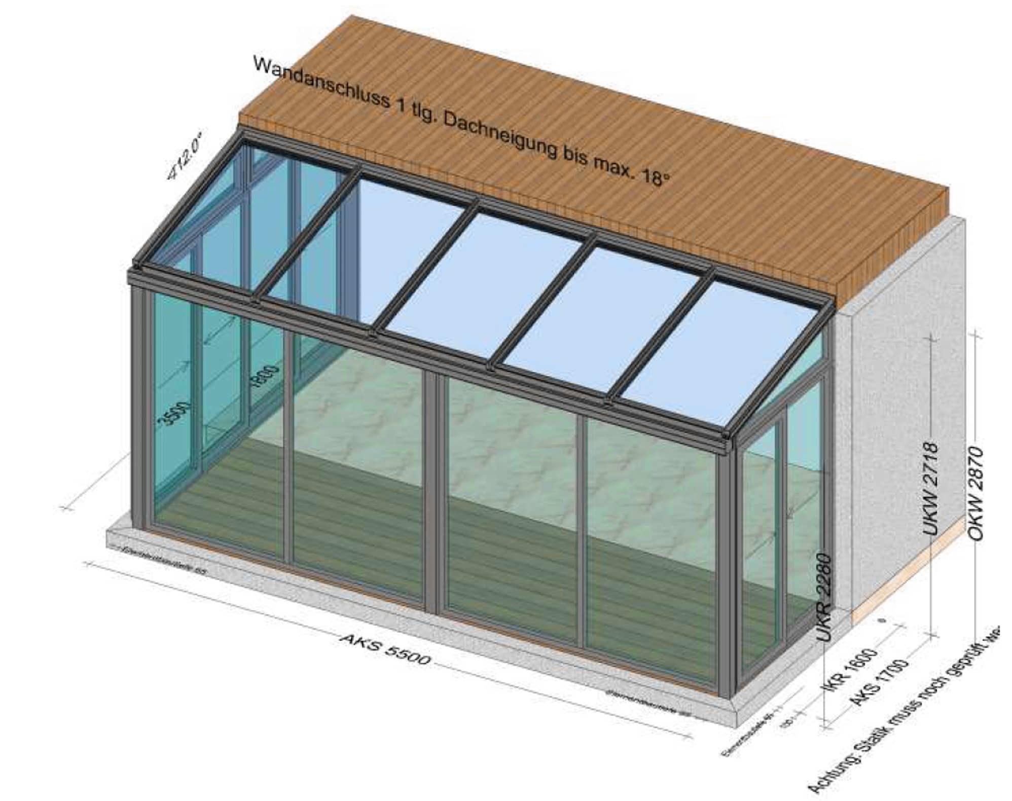Wintergarten isoliert - Planung BV Traun OÖ