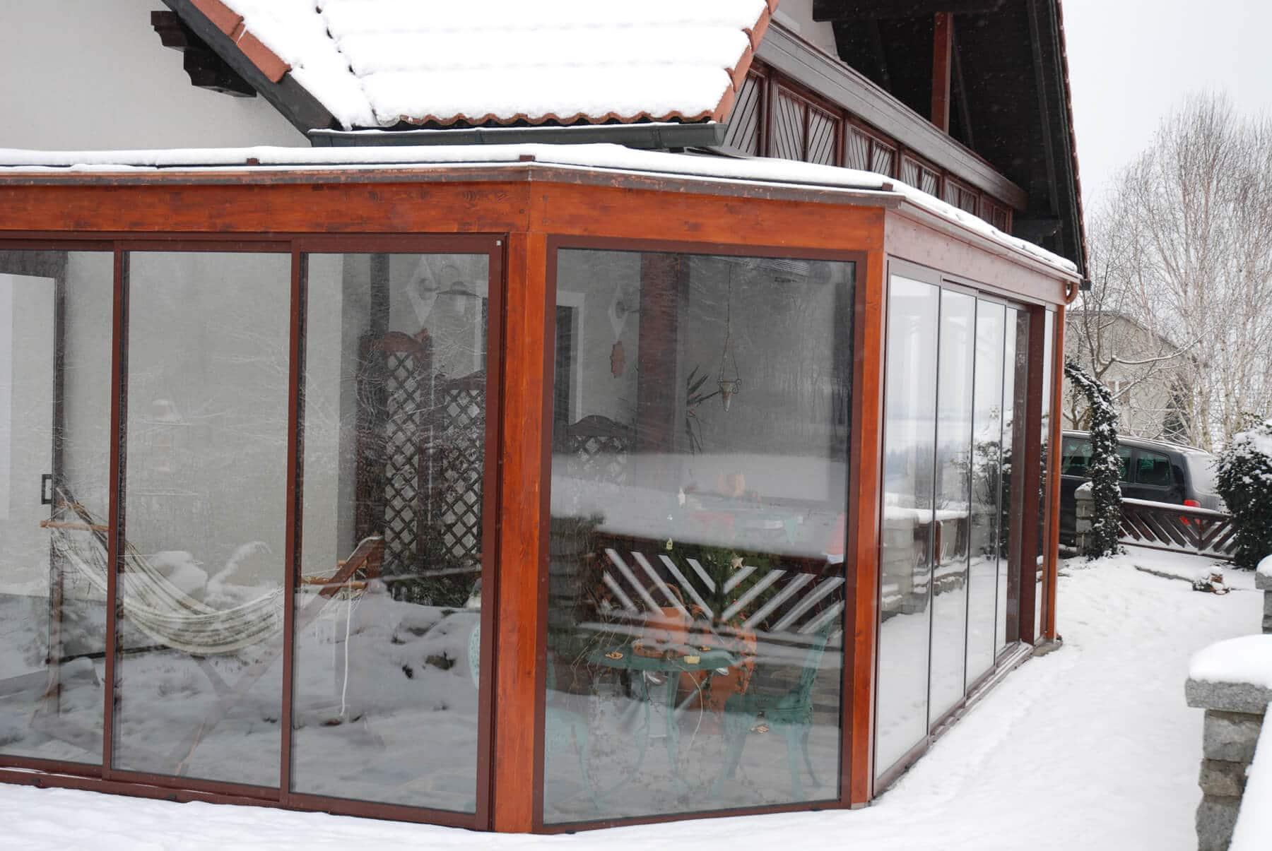 Wintergarten Kalt wintergarten kalt aus aluminium und holzkonstruktion
