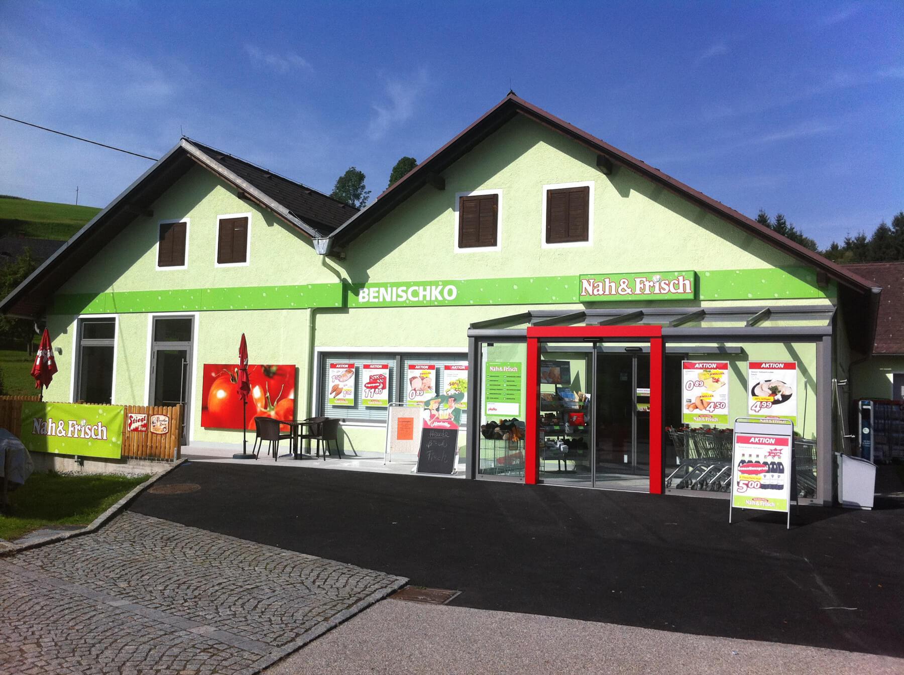 Wintergarten mit automatischer Schiebetüre für Geschäftslokal