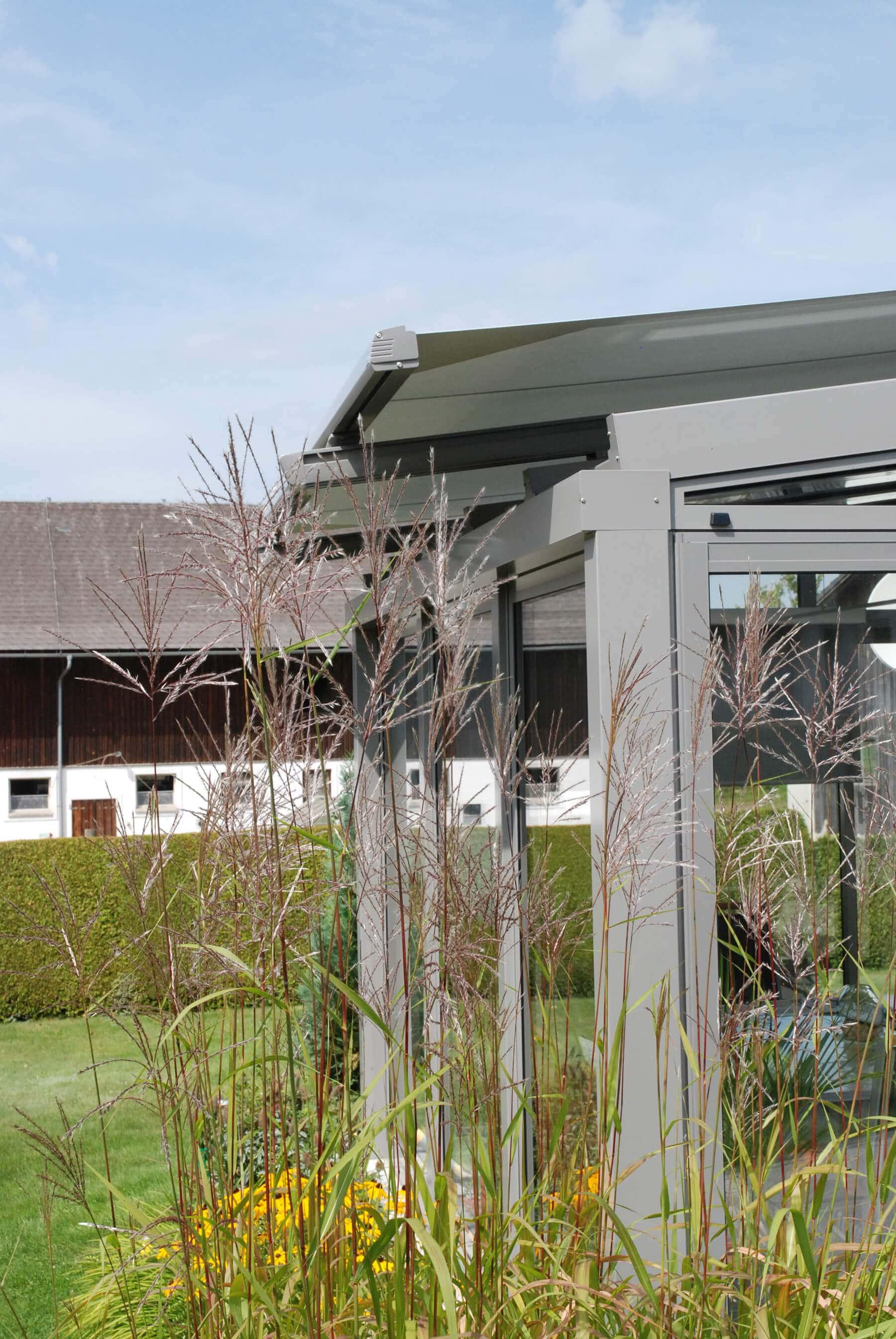 Wintergarten mit Beschattung für Glasdach