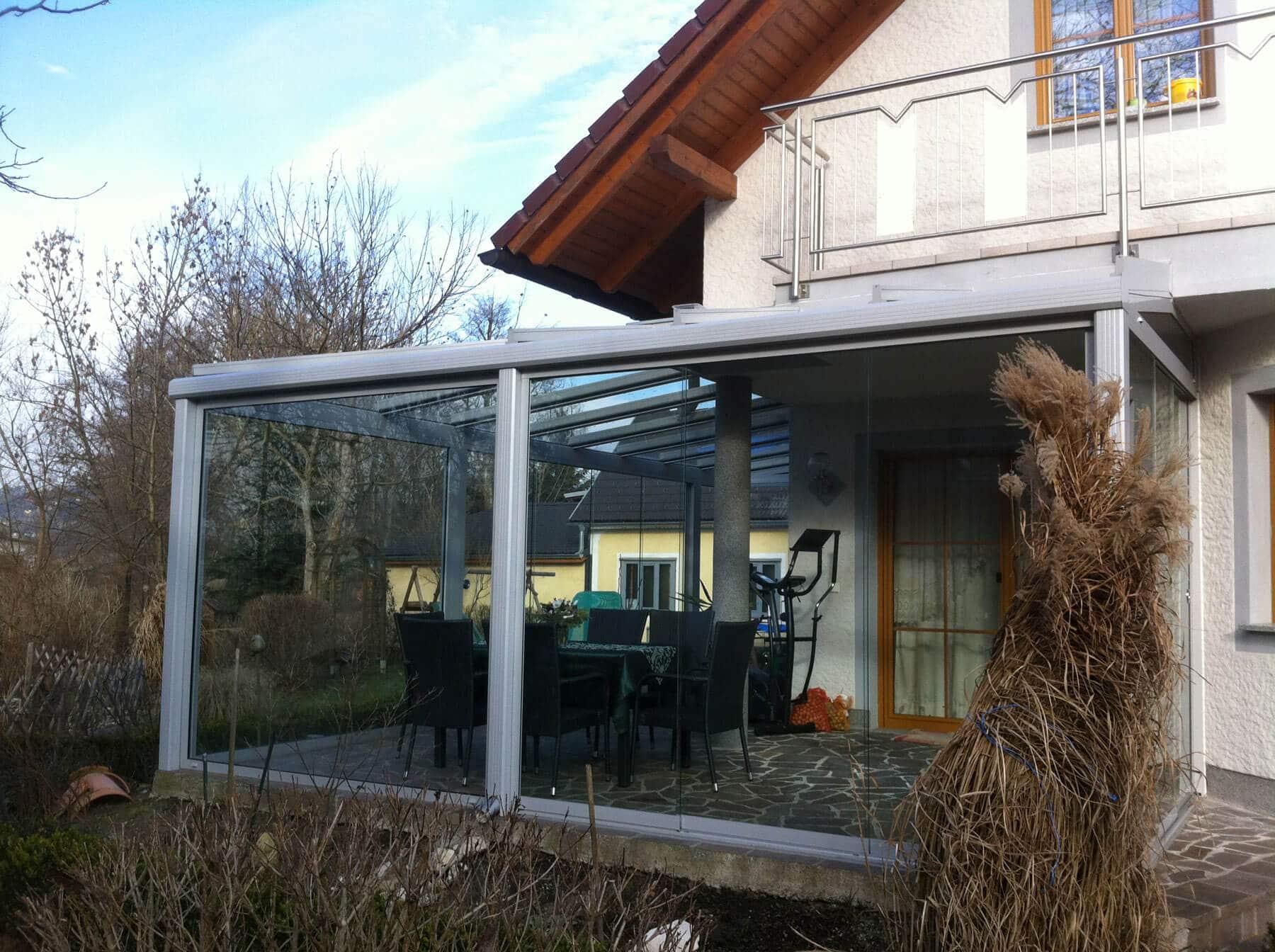 Wintergarten mit Eckkonstruktion