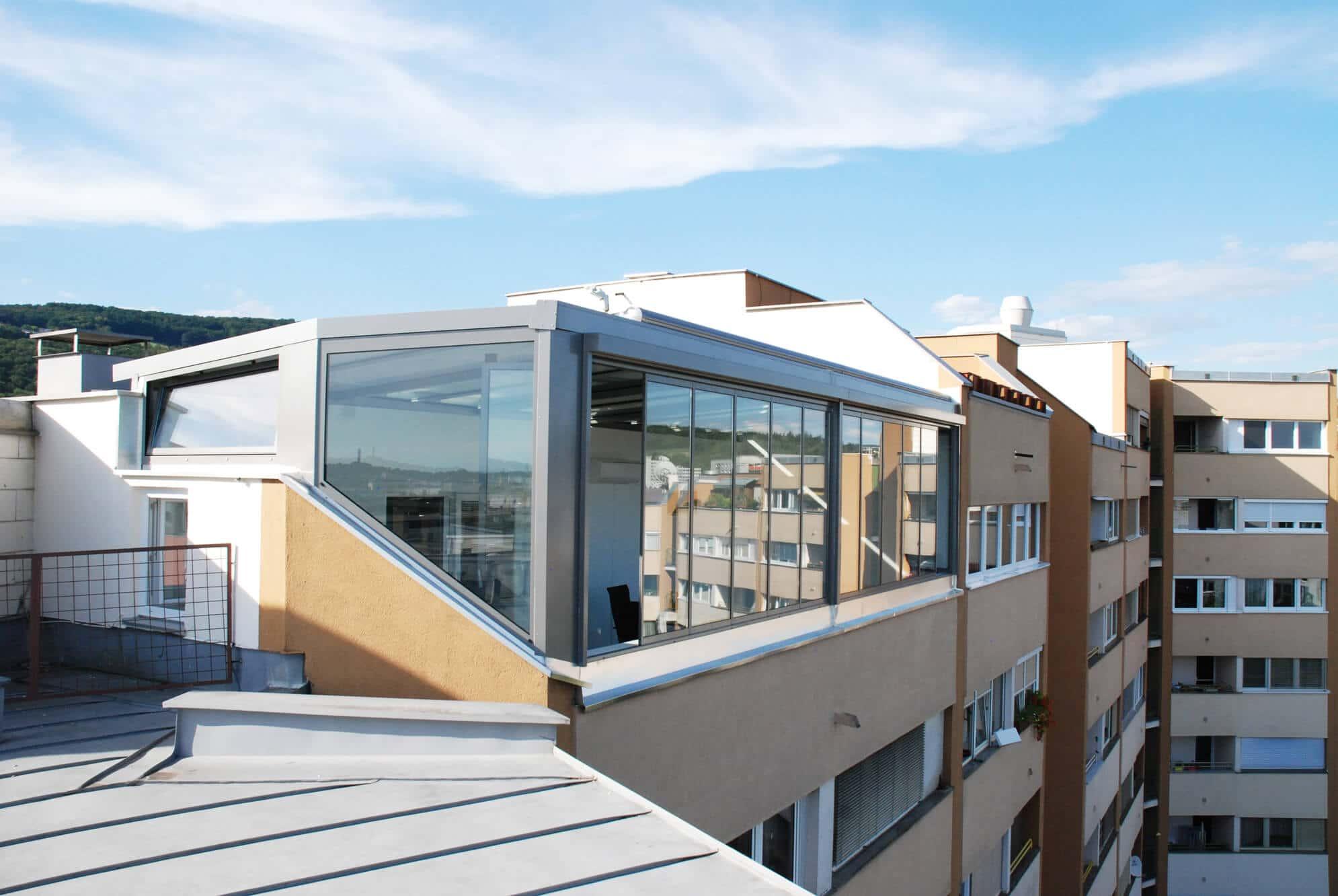 Wintergarten mit Glasfront komplett öffenbar