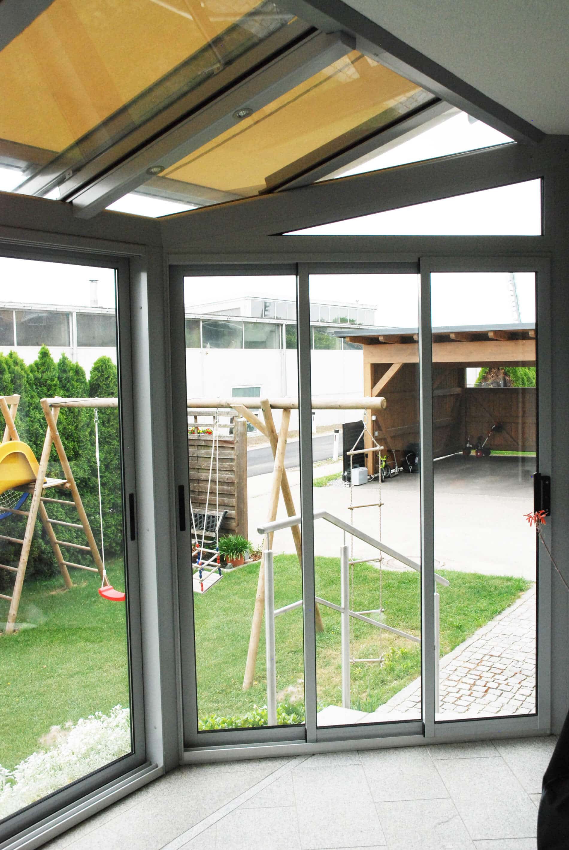 Glas Pergola Holz Aluminium Fenster Schmidinger
