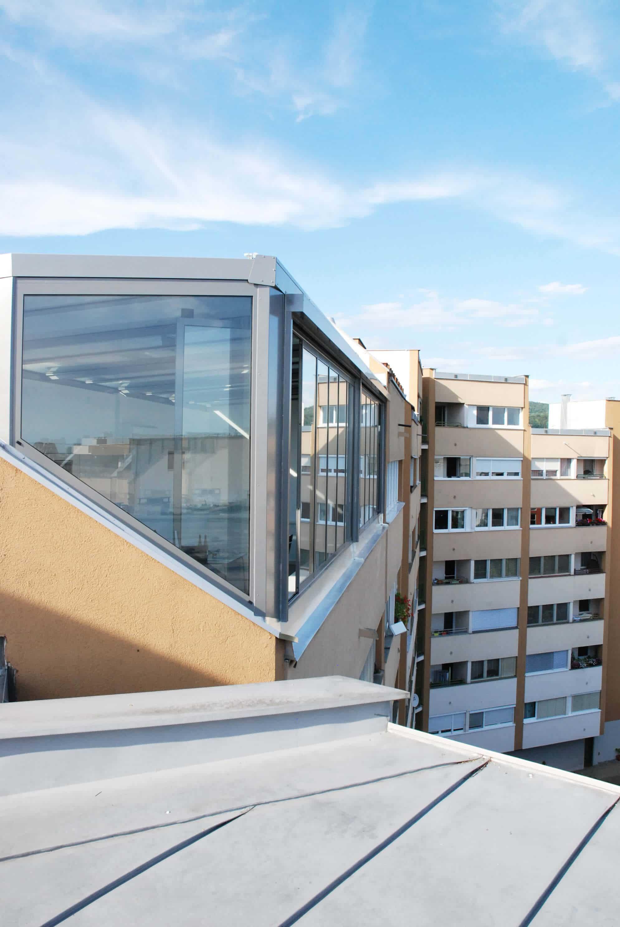 Wintergarten mit Schiebe-Dreh-Fenster