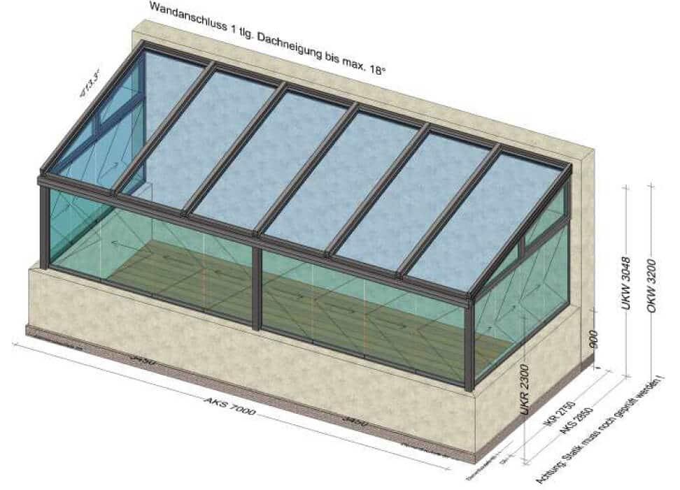Wintergarten mit Schiebe-Falt Fenster