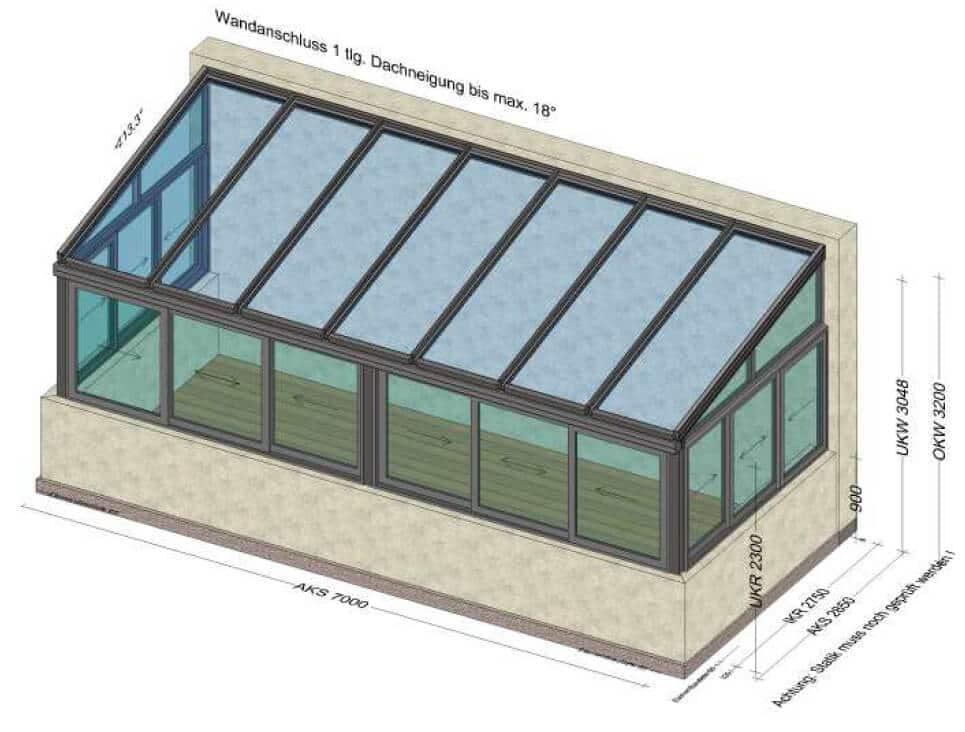 Wintergarten mit Schiebefenster Oberösterreich