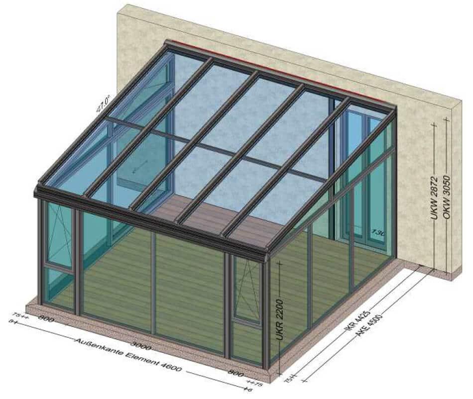 Super Wintergarten mit Balkon darüber | Wintergärten Sondermaße und UO45