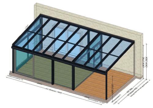 Wintergarten mit zusätzlicher Überdachung Preis