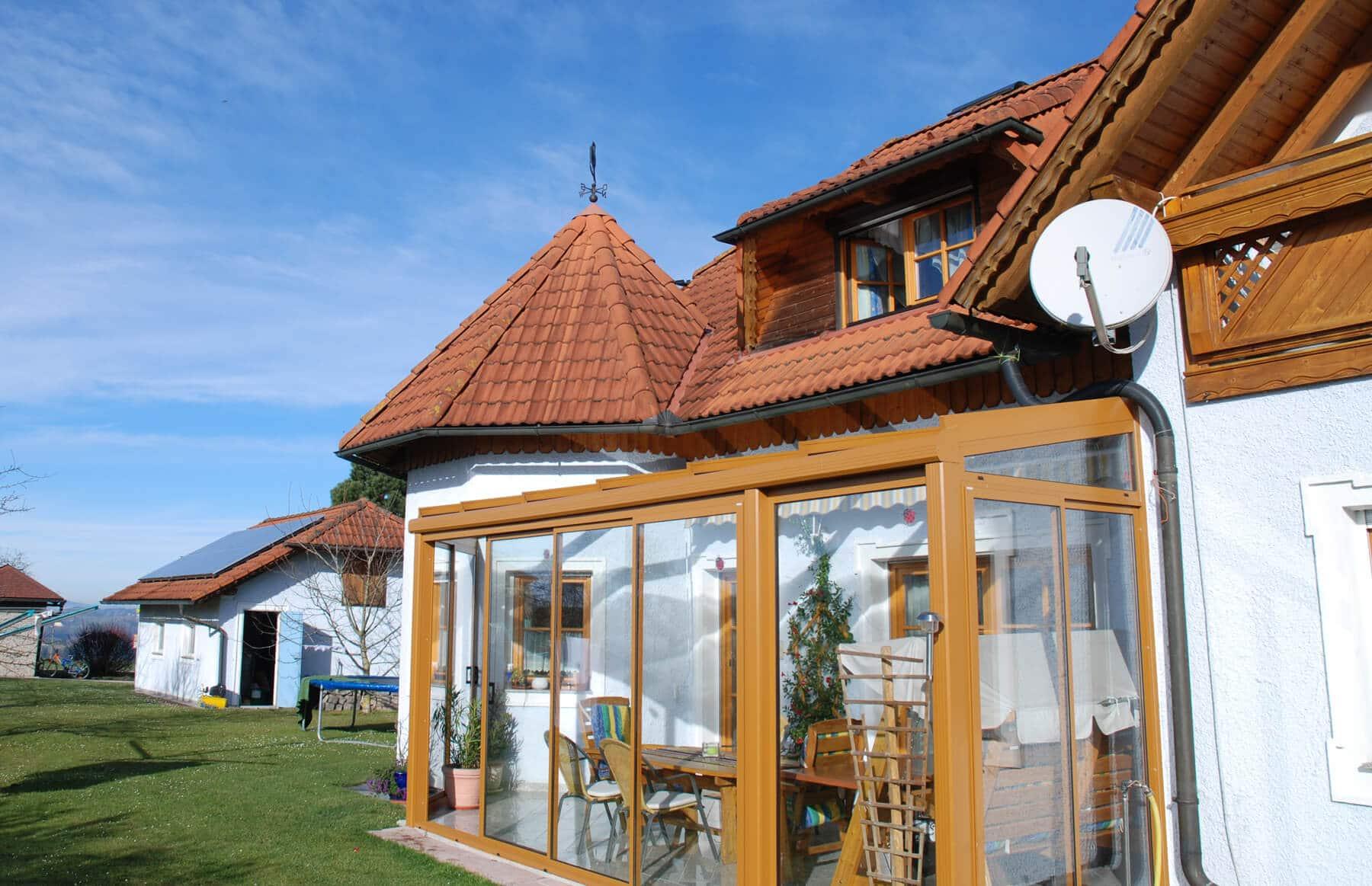 Wintergarten Ockerbraun RAL 8001