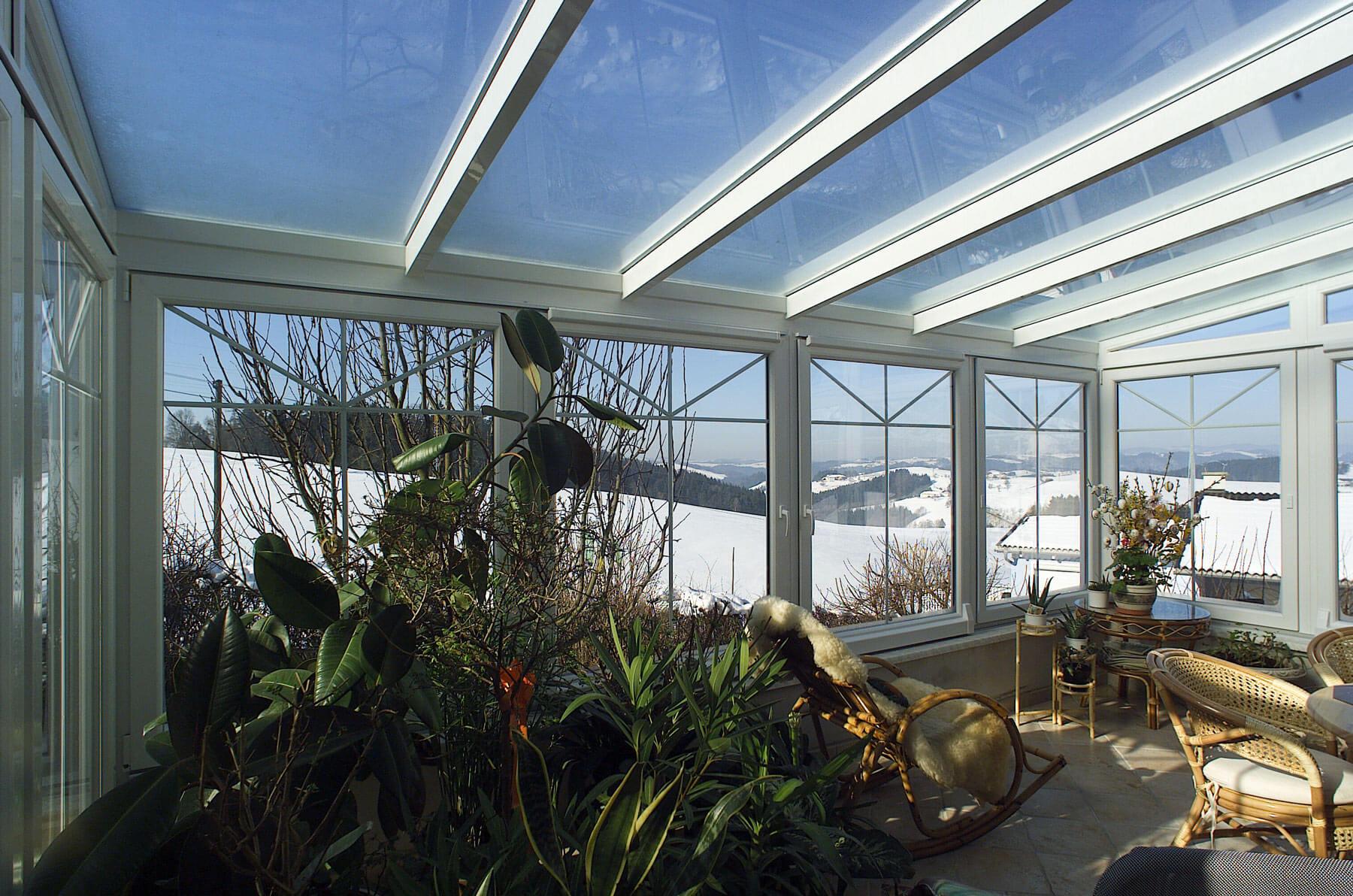 Wintergarten Auf Dachterrasse wintergarten auf dachterrasse in grau mit viel glas
