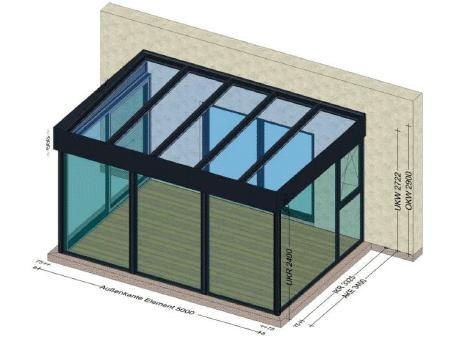 Wintergarten Preis Flachdach