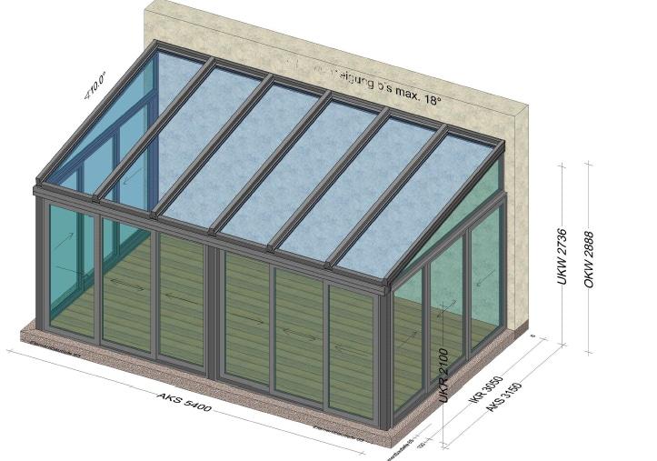 Wintergarten Preise 6x4 mit Isolierglas