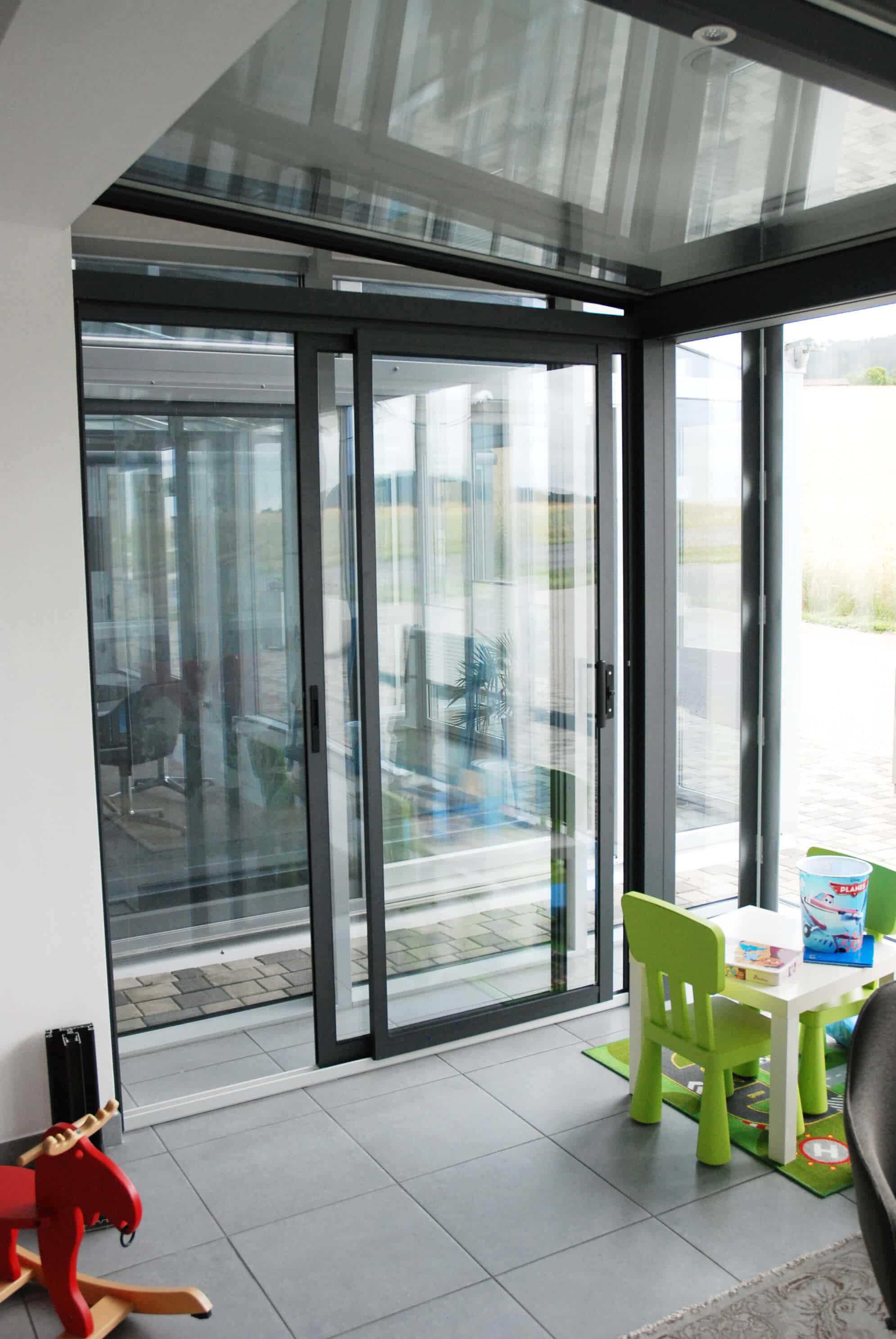 Wintergarten Schiebetur Von Neher Multiraum Fur Chill Lounge