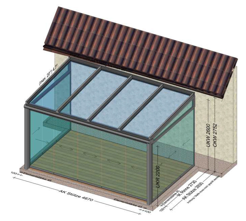 Wintergarten Schiebetüren - Planung in 4470 Enns