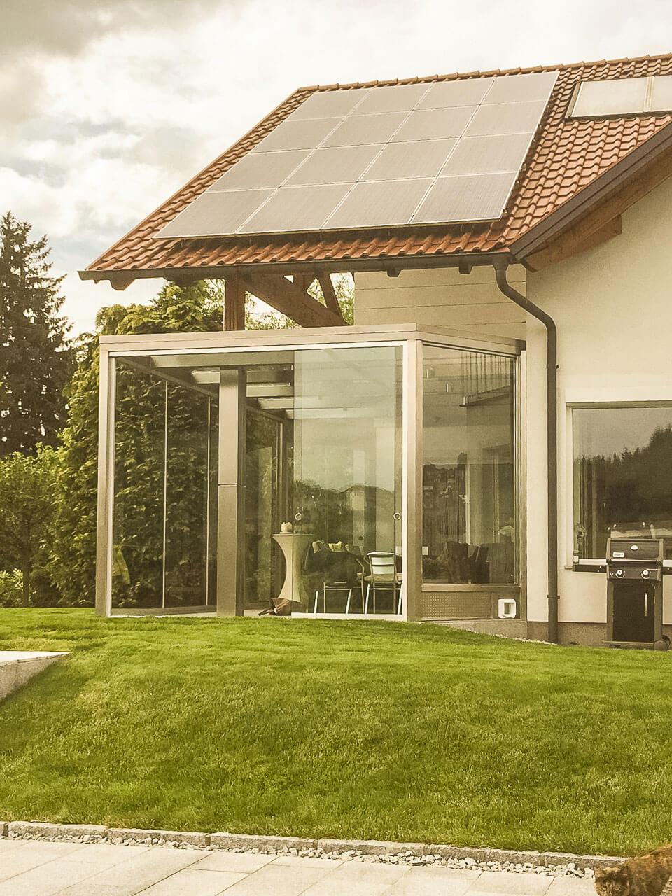 wintergarten braun aluminium pulverbeschichtet. Black Bedroom Furniture Sets. Home Design Ideas