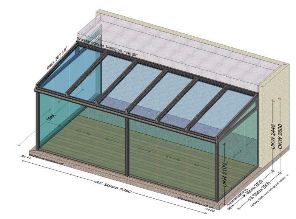 Wintergarten-Sommergarten Planung für BV in Freistadt OÖ