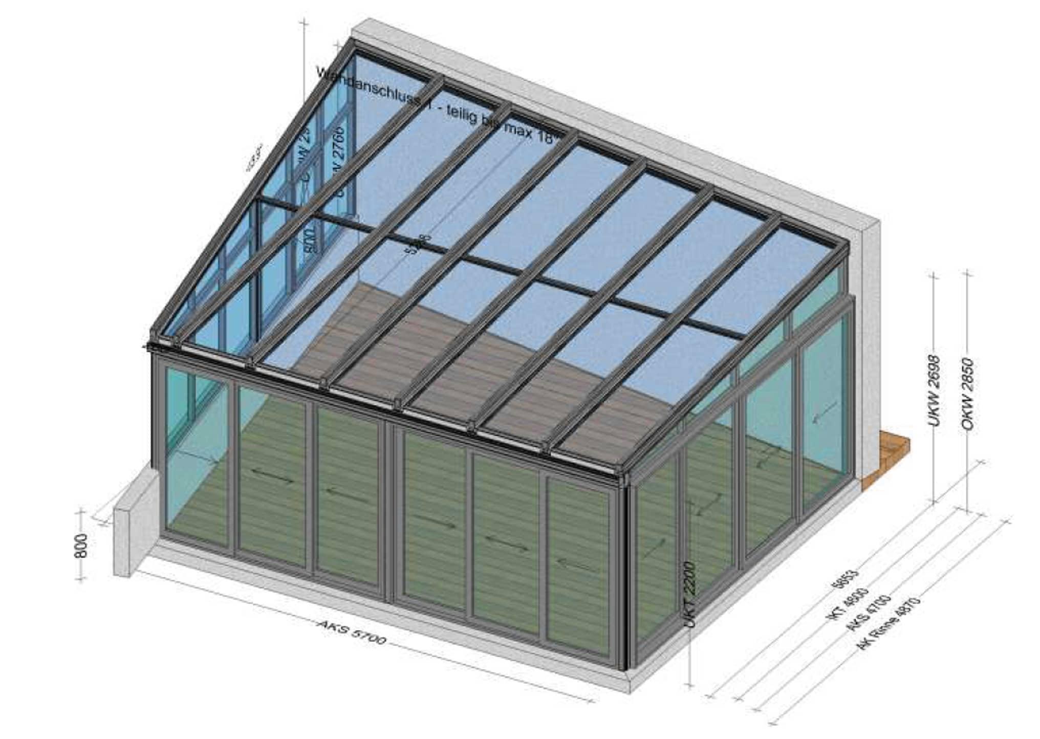 Wintergarten Sonderanfertigung Alu - Planung Regau OÖ