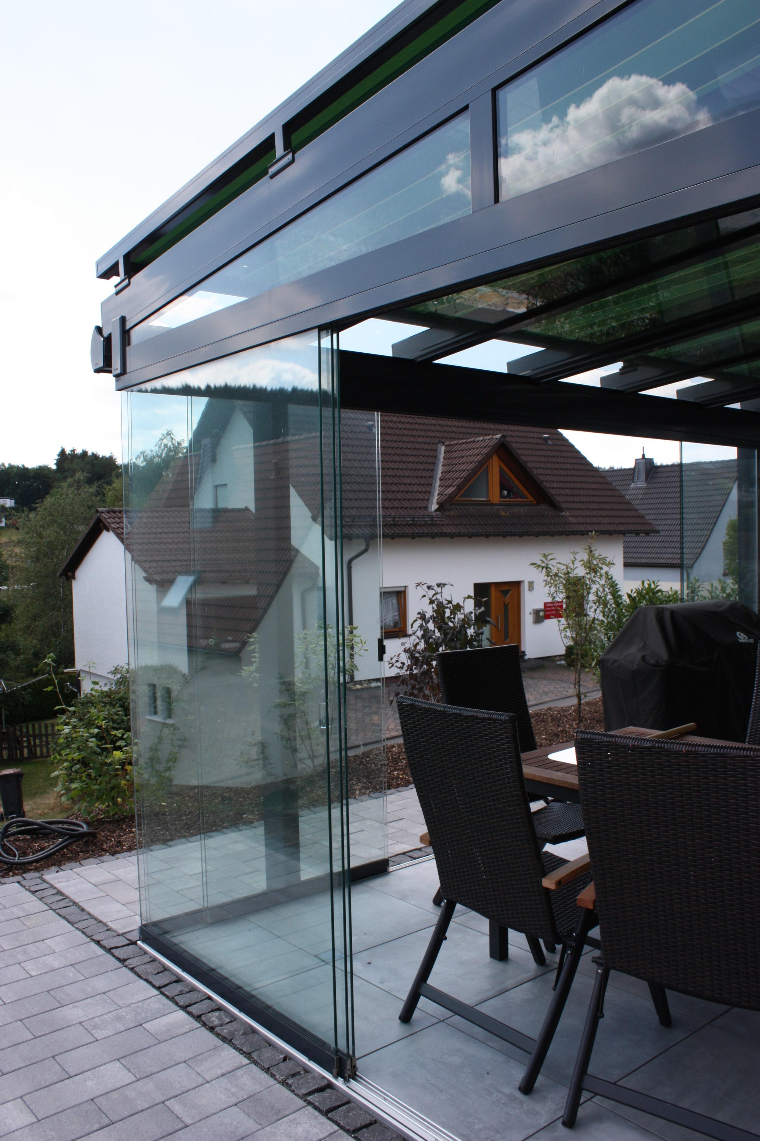 Wintergarten Sunflex mit Schiebetüren