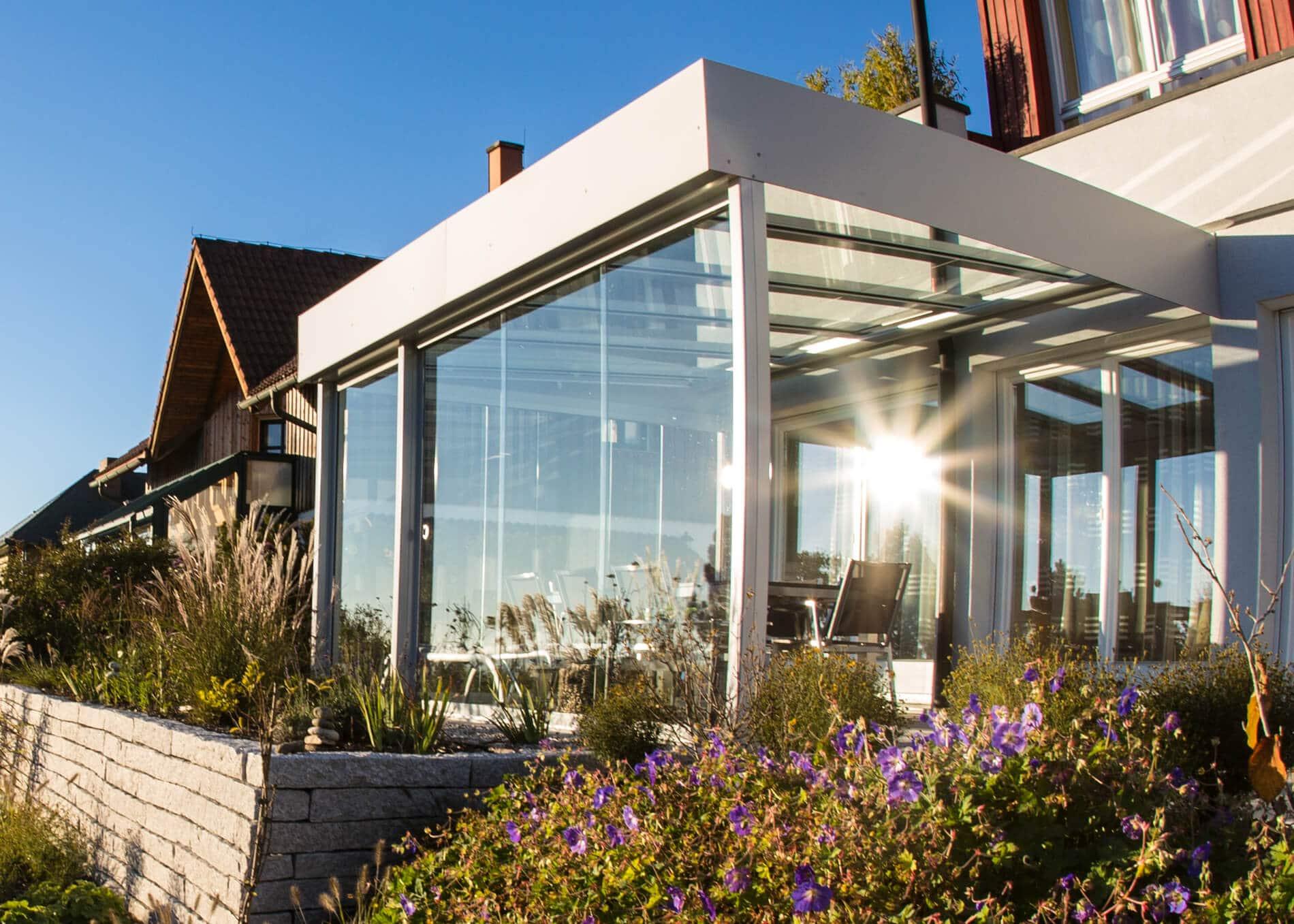 Wintergarten Terrasse Glas - Maßanfertigung