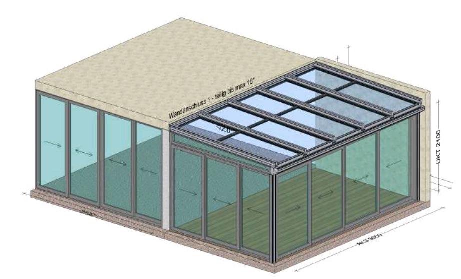 Wintergarten unter Balkon - Planung