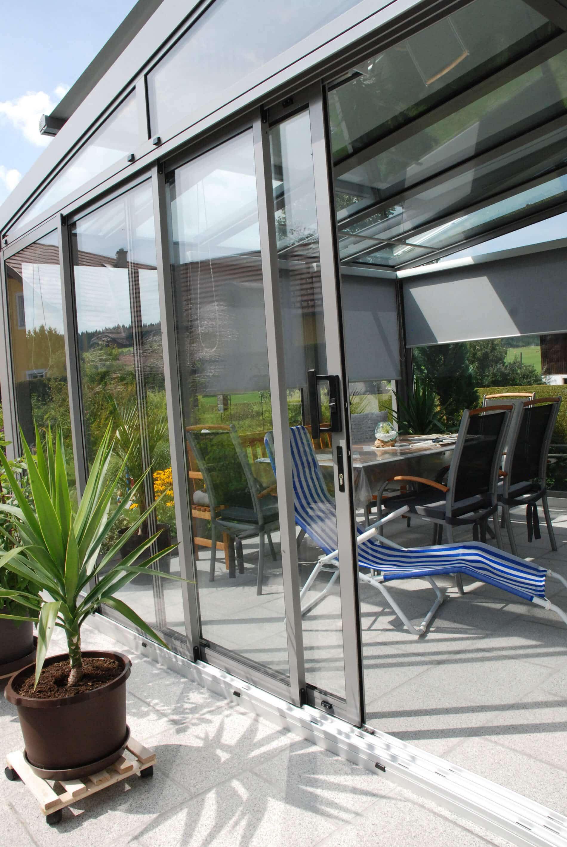 Wintergartenschiebeture Aluminium Und Isolierglas