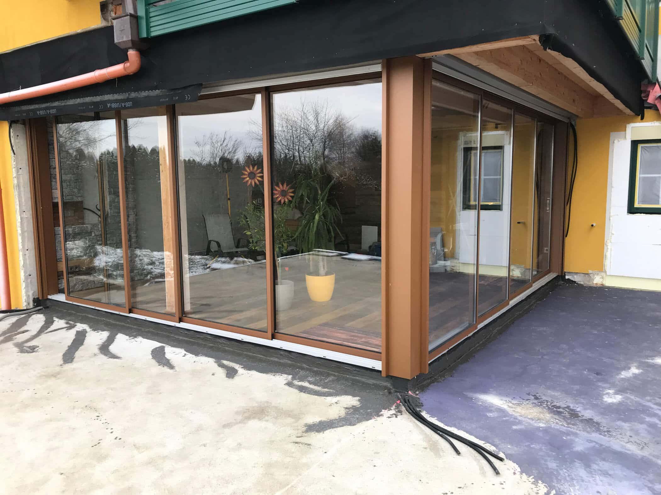 Wohnräume schaffen auf Terrassen