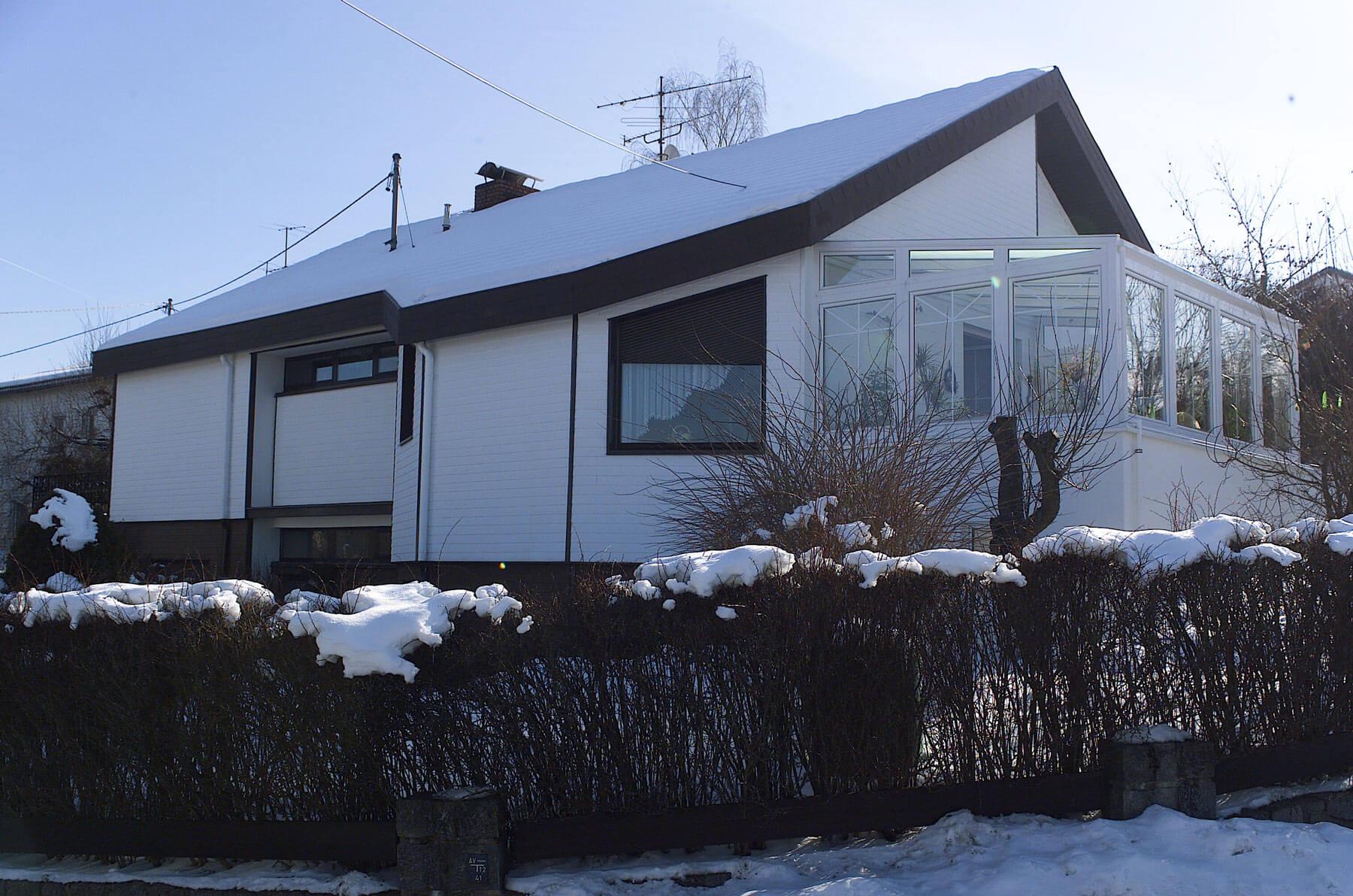Wintergarten Auf Bestehender Terrasse Montiert Fenster Schmidinger