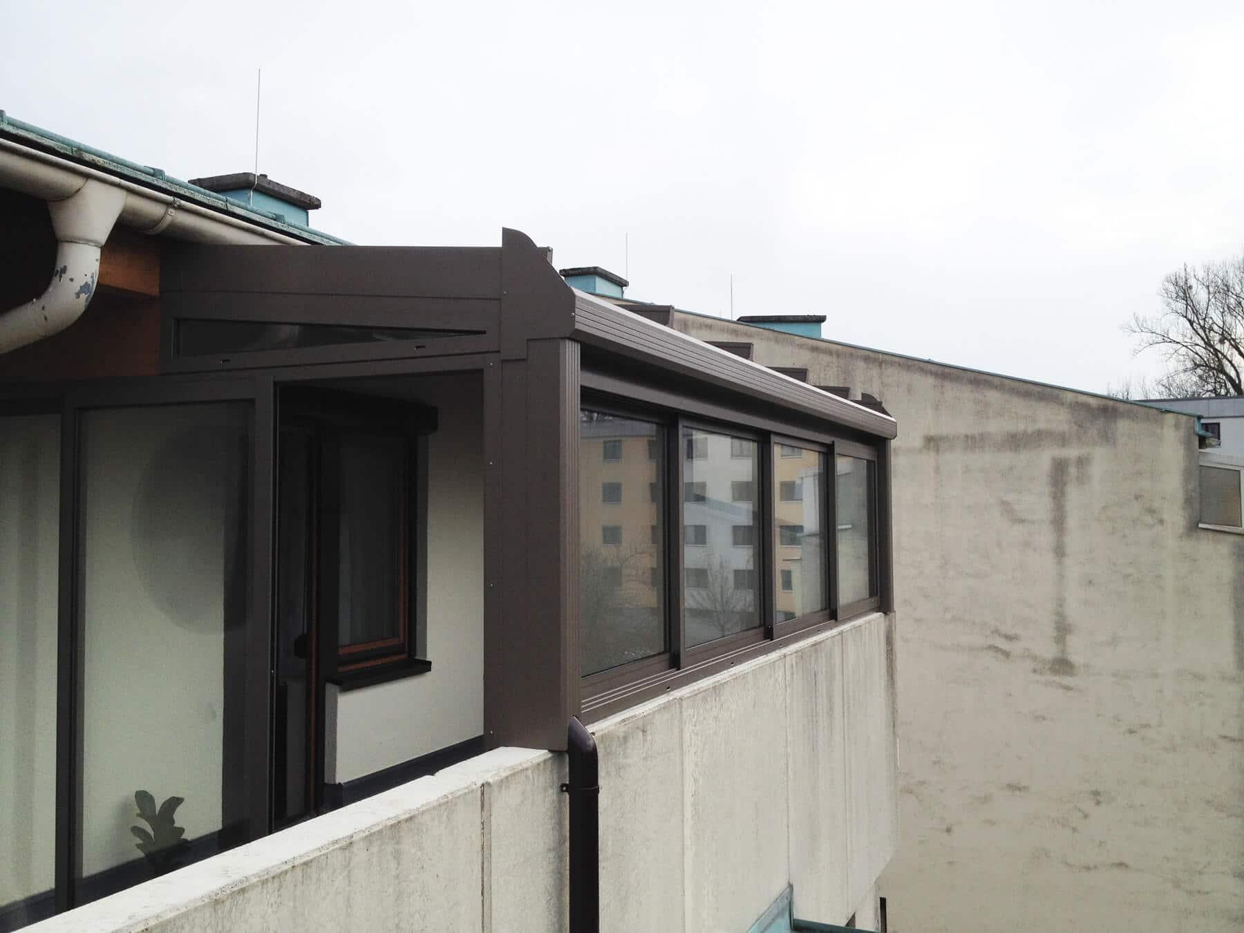 Wohnwintergarten Dachgeschoss in grau