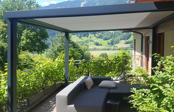 Zip-Beschattung außen für Terrasse